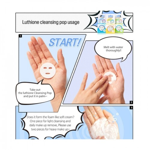 "Сухая пенка для лица ""Luthione Boddle Boddle Cleansing Pop"""